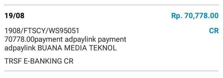 Bukti Pembayaran AdPayLink